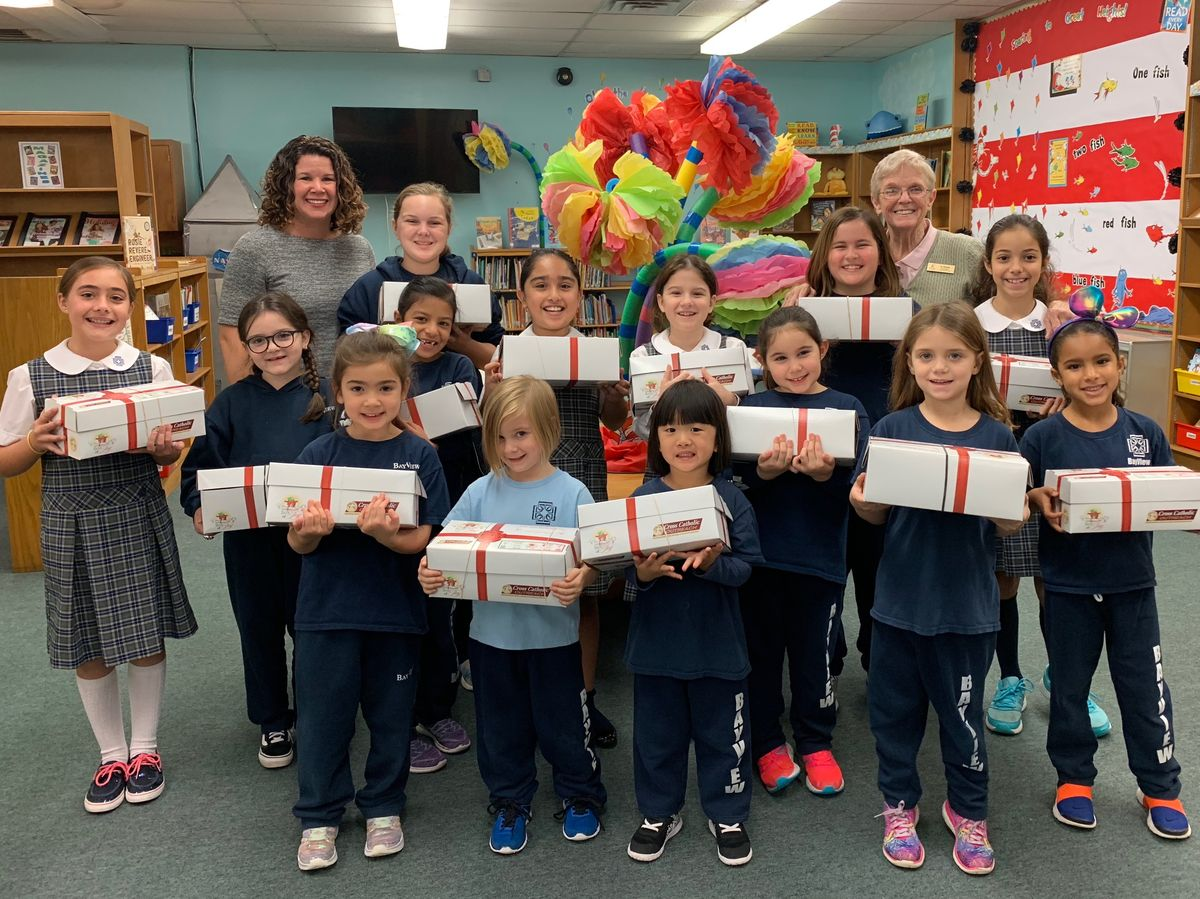 Lower School Participates in Box of Joy Program
