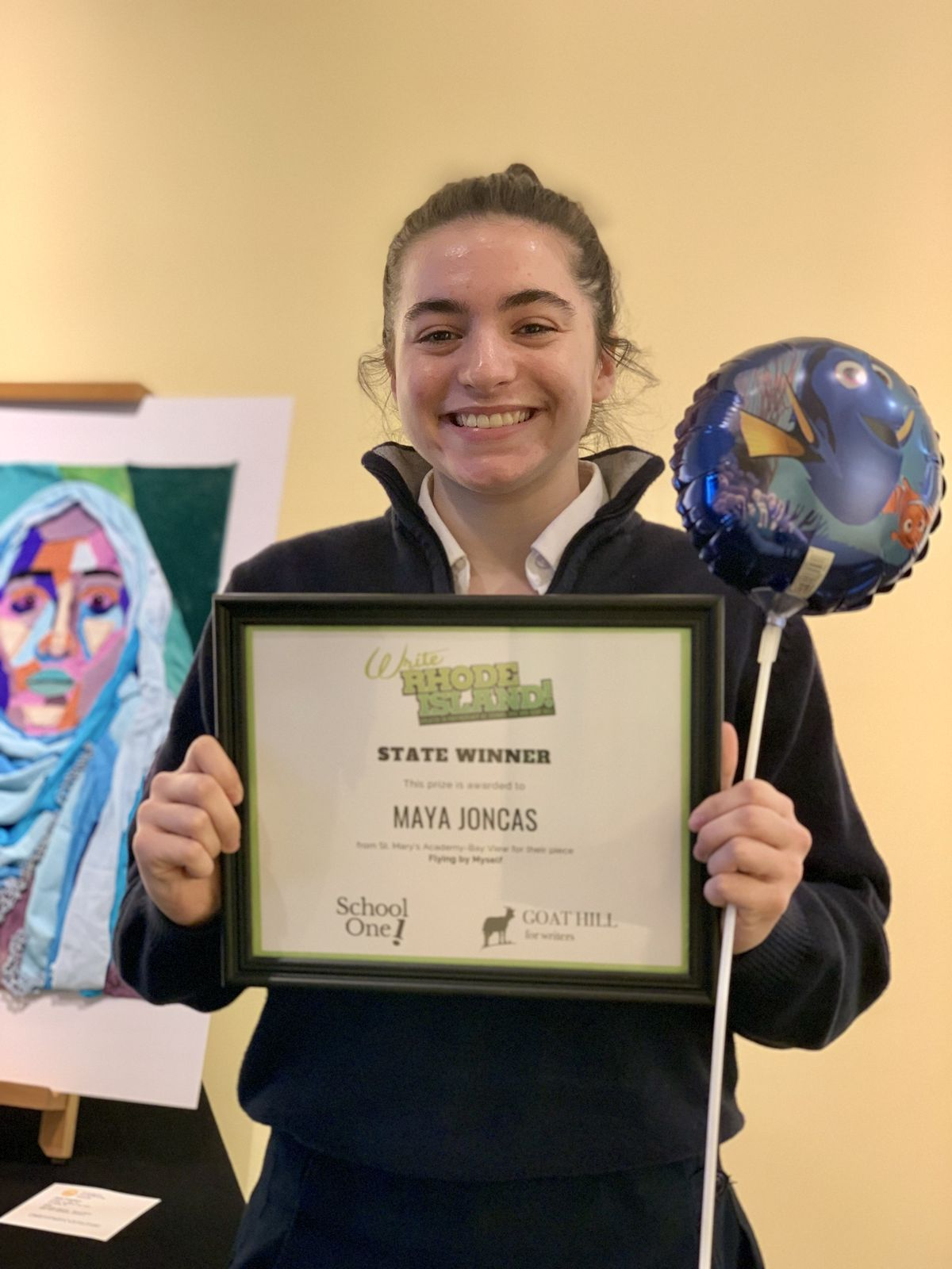 Freshman Named One of the RI's Top Winners in the Write Rhode Island Competition